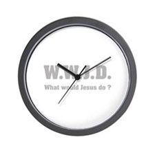 What would Jesus do ? Wall Clock