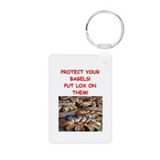 bagels and lox joke Keychains