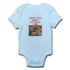 bagels and lox joke Infant Bodysuit