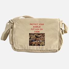 bagels and lox joke Messenger Bag