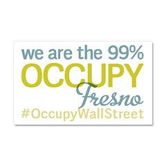 Occupy Fresno Car Magnet 20 x 12