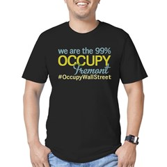 Occupy Fremont Men's Fitted T-Shirt (dark)