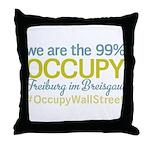 Occupy Freiburg im Breisgau Throw Pillow