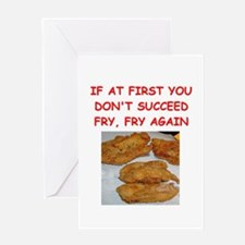 fried chicken joke Greeting Card