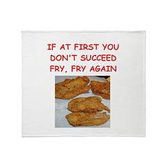fried chicken joke Throw Blanket