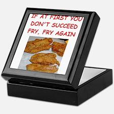 fried chicken joke Keepsake Box