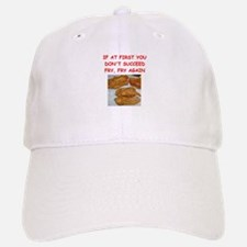 fried chicken joke Baseball Baseball Cap