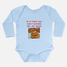 fried chicken joke Long Sleeve Infant Bodysuit