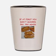 fried chicken joke Shot Glass