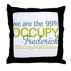 Occupy Frederick Throw Pillow
