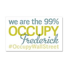 Occupy Frederick Car Magnet 20 x 12