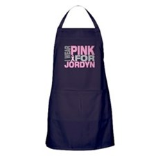 I wear pink for Jordyn Apron (dark)