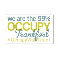 Occupy Frankfort Car Magnet 20 x 12