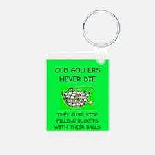 funny golf joke Keychains