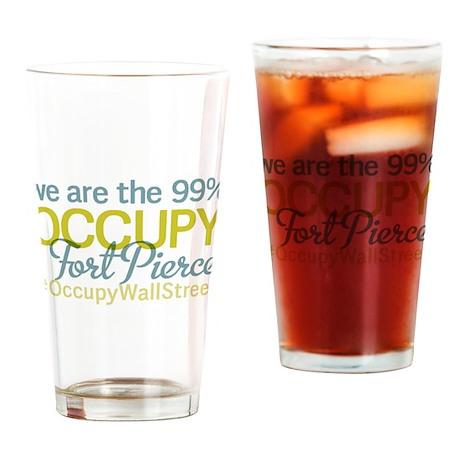 Occupy Fort Pierce Drinking Glass