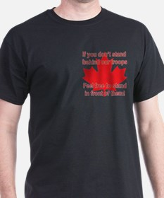 Support Canadian Troops T-Shirt