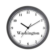Washington D.C. Classic Newsroom Wall Clock