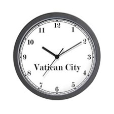 Vatican City Classic Newsroom Wall Clock