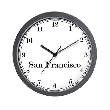 San Francisco Classic Newsroom Wall Clock