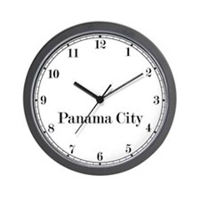 Panama City Classic Newsroom Wall Clock