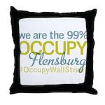 Occupy Flensburg Throw Pillow