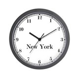 New york time zone clock Wall Clocks