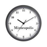 Minneapolis time zone clock Wall Clocks