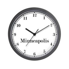 Minneapolis Classic Newsroom Wall Clock