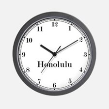Honolulu Classic Newsroom Wall Clock