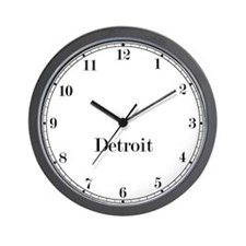 Detroit Classic Newsroom Wall Clock