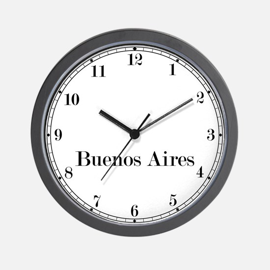 Buenos Aires Classic Newsroom Wall Clock