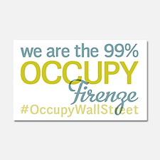 Occupy Firenze Car Magnet 20 x 12