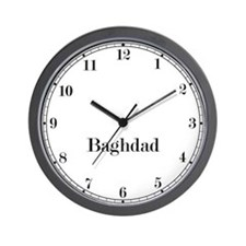 Baghdad Classic Newsroom Wall Clock