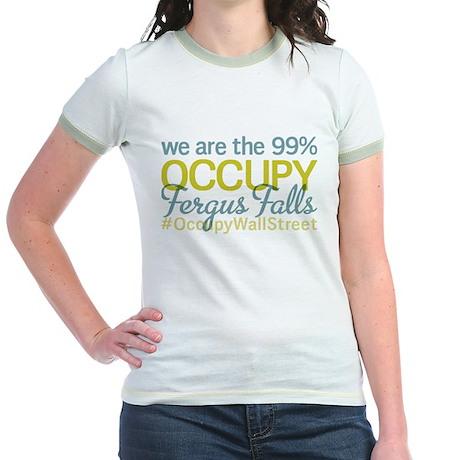 Occupy Fergus Falls Jr. Ringer T-Shirt