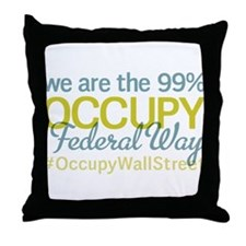 Occupy Federal Way Throw Pillow