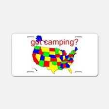got camping? Aluminum License Plate