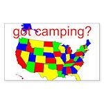 got camping? Sticker (Rectangle 50 pk)