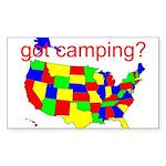 got camping? Sticker (Rectangle)
