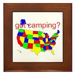 got camping? Framed Tile