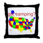 got camping? Throw Pillow