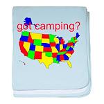 got camping? baby blanket
