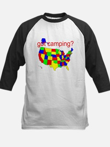 got camping? Kids Baseball Jersey