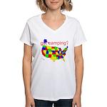 got camping? Women's V-Neck T-Shirt