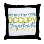 Occupy Fayetteville Throw Pillow