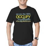 Occupy Fayetteville Men's Fitted T-Shirt (dark)