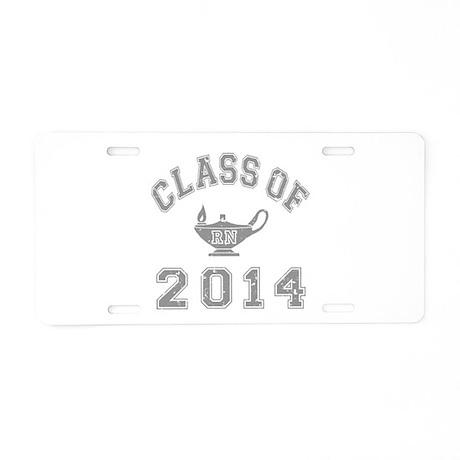 Class Of 2014 RN Aluminum License Plate