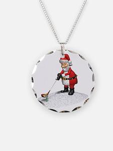 Golfing Santa Claus Necklace