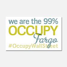 Occupy Fargo Car Magnet 20 x 12