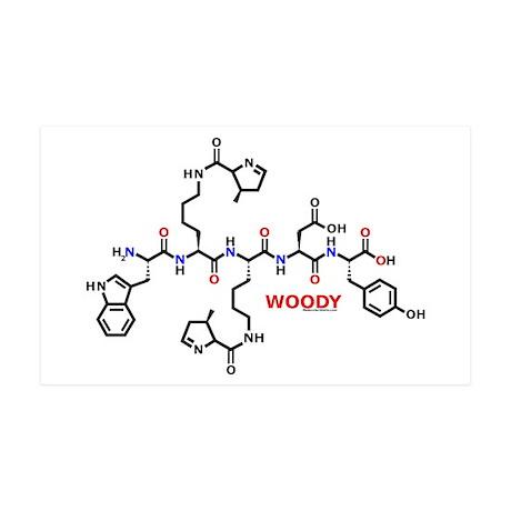 Woody molecularshirts.com 38.5 x 24.5 Wall Peel