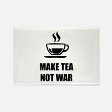 Make tea not war Rectangle Magnet